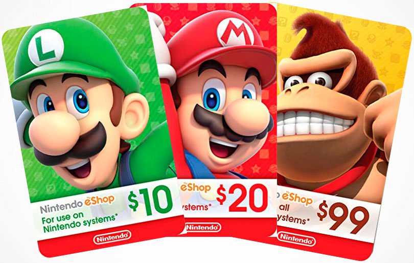 Tarjetas Nintendo eShop Ecuador